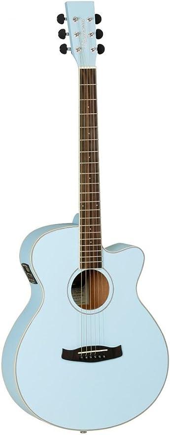 Tanglewood DCESA - Guitarra acústica, color azul: Amazon.es ...