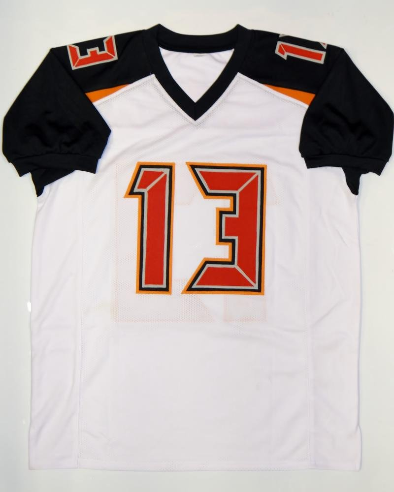 e9bcf431 Mike Evans Autographed White Pro Style Jersey- JSA Witnessed Auth at  Amazon's Sports Collectibles Store