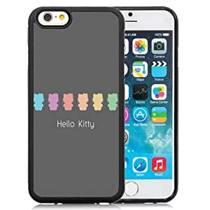 Fashionable and DIY Phone Case Design with Flat Hello Kitty Pastel iPhone 6 4.7inch TPU case Wallpaper
