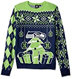 NFL Seattle Seahawks CHRISTMAS TREE & ORNAMENT Ugly Sweater, XX-Large