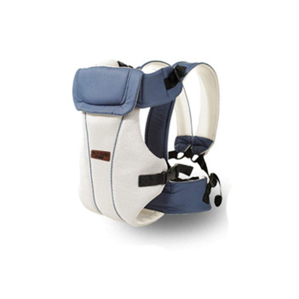 Edelehu Babytrage Atmungsaktives Mesh-Tuch Reise-Babytrage Aus Baumwolle Bequeme und Ergonomische Baby- und Neugeborenentrage Multi-Position Tragetrage Wathet Farbe