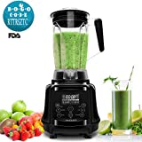 AIMORES Blender for Smoothies Heavy Duty, 75oz 3 in 1 Programmed Commercial High Speed Juice Blender(28,000RPM), Powerful Blender, Auto Clean & Timing, 6 Blades, ETL/FDA Approved – (Black) For Sale