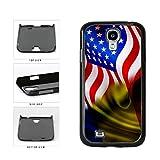 BleuReign(TM) Romania And USA Mixed Flag Plastic Phone Case Back Cover Samsung Galaxy S4 I9500