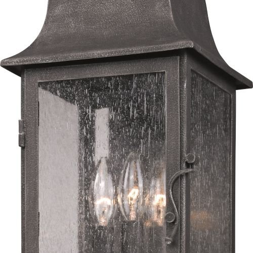 (Ship from USA) Troy Lighting B3212 Aged Pewter Larchmont 3 Light Outdoor Wall Sconce /ITEM NO#I-86/Q-UI754425457