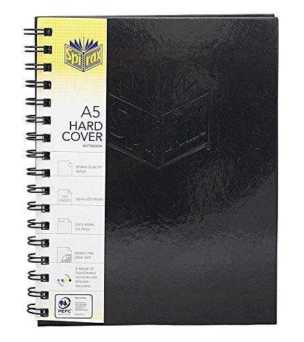 2018 Planner Spiral Bound Notebooks College Ruled Large Writing Journals Notebook | Black - Spiral Notebook
