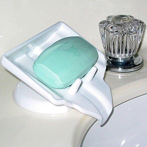 Toilet gadget Waterfall Soap Saver Dish Drain Holder Clean Dry Stop Mushy Soap Bar Bathroom free shipping