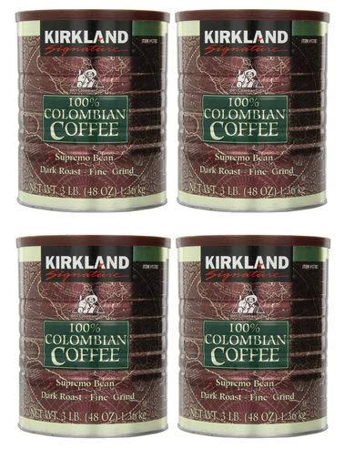 IUDUH 100% Colombian Coffee Supremo Bean Dark Roast-Fine Grind, 6 Pound,Signature-ykgj 4 Pack