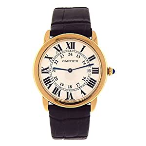 Cartier Ronde Solo analog-quartz mens Watch W6700455 (Certified Pre-owned)