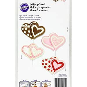 Wilton Double Heart Lollipop Mold