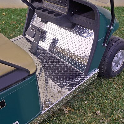 Diamond Plate Floor Cover For EZGO TXT Golf Carts 2001-2013 ()