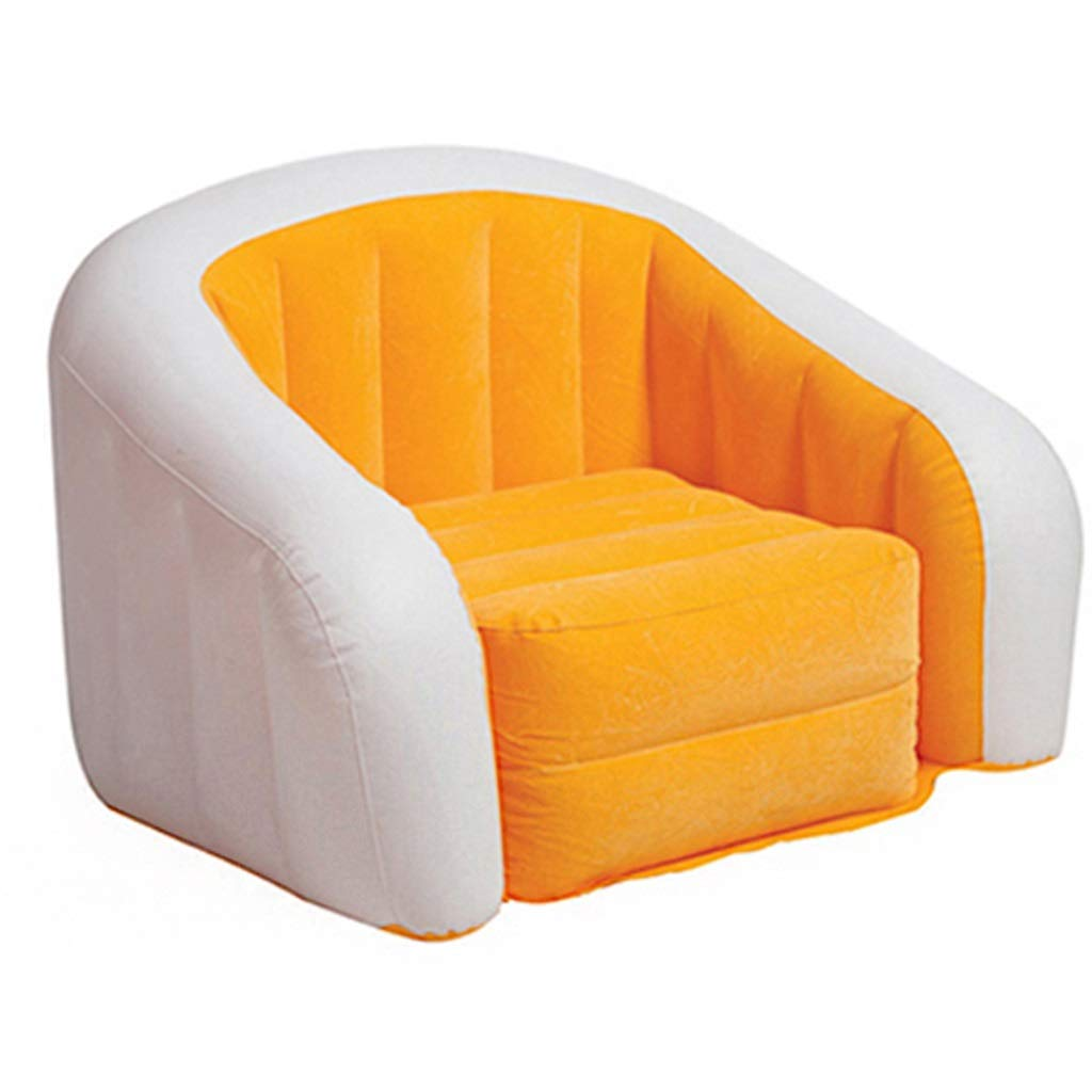 Folding Chair- Lazy Sofa,Inflatable Sofa Flocking Single Lazy Couch Lounge Chair Sofa(Including Inflated Electric Pump) (Color : B)