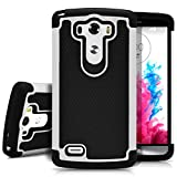 LG G3 Case, MagicMobile [Dual Armor Series] Rugged Durable [Impact Shockproof Resistant] Double Layer Cover [Hard Shell] & [Flexible Silicone] Case for LG G3 Case - Black / White
