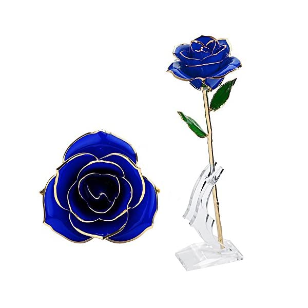 Wefond-Long-Stem-24K-Gold-Rose-Flower-Foil-Trim-Romantic-Rose-with-Display-Stand-in-Gift-Box-for-Valentines-Day-Anniversary-Birthday-Wedding-Thanksgiving-and-Christmas