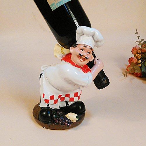 MKILJNH Exquisito Chief Wine Goblet Rack, Jefe de Resina Wine Champange Bottle Goblet Rack Holder Hogar artesanías Decoración del hogar