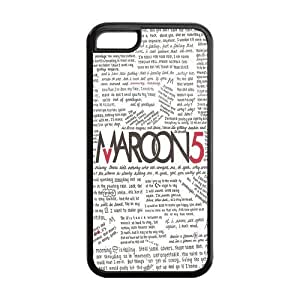 Hard Rubber Special Design iPhone 5c Cover Maroon 5 Case for iPhone 5c