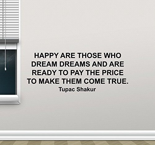 Purchase Music Posters - Resorv Decals Tupac Shakur Wall Decal Quote Motivational Poster Rap Music Gift Idea Vinyl Sticker Home Musical Decor Bedroom Art Print Mural TT396