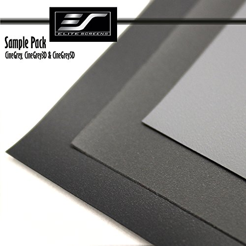 Elite Screens Sample Pack! Includes 3 of Elites most popular Front grey projection screen materials. Includes one sample swatch of: CineGrey, CineGrey3D, CineGrey5D (SAMPLEPACK3G) (Gray Swatches)