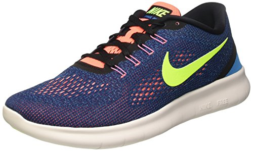 Nike Free RN Mens Running Trainers 831508 Sneakers Shoes (US 9.5, Purple Dynasty Black Volt 501)