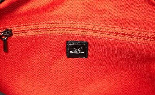 Sansibar Sumatra B-448 SU 01, Unisex-Erwachsene Schultertaschen 32x26x13 cm (B x H x T) Schwarz (Black)