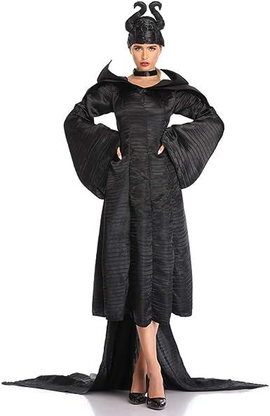 Disfraz de bruja de la fantasma negra de las mujeres Disfraz de la ...