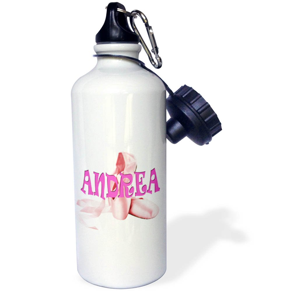 3dRose wb/_261388/_1 Jenny Pink Ballet Shoes Ballerina Water Bottle