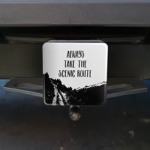 1.25 Always Take the Scenic Route Hiking Travel Tow Trailer Hitch Cover Plug Insert 1 1//4 inch