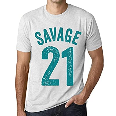 Men's Vintage Tee Shirt Graphic T Shirt Savage 21 Vintage White