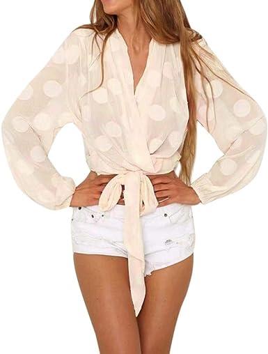 Leey Sudadera con Capucha Mujer Camiseta En Cuello V con ...