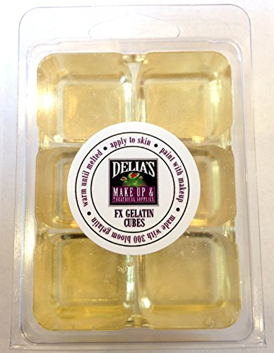 Professional FX Makeup Gelatin Cubes 4 oz. CLEAR - A Safe Alternative to Latex! FX Makeup, Skin effects, Scars, Prosthetics (Latex Special Effects)