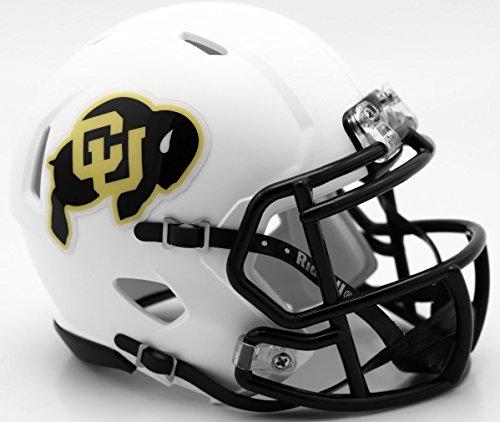 lternate Matte White NCAA Mini Speed Football Helmet (Colorado Buffaloes Mini Helmet)