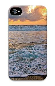 beach waves PC Case Cover for iPhone 4 and iPhone 4S 3D New Year gift Kimberly Kurzendoerfer