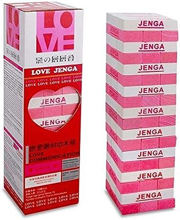 Amor juego de Jenga madera Inglés / Chino atractiva: Amazon.es: Juguetes y juegos