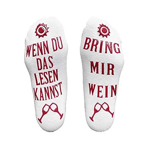 Sale! Teresamoon Funny Wine Socks Wine Gift for Wine Lovers Christmas Idea]()