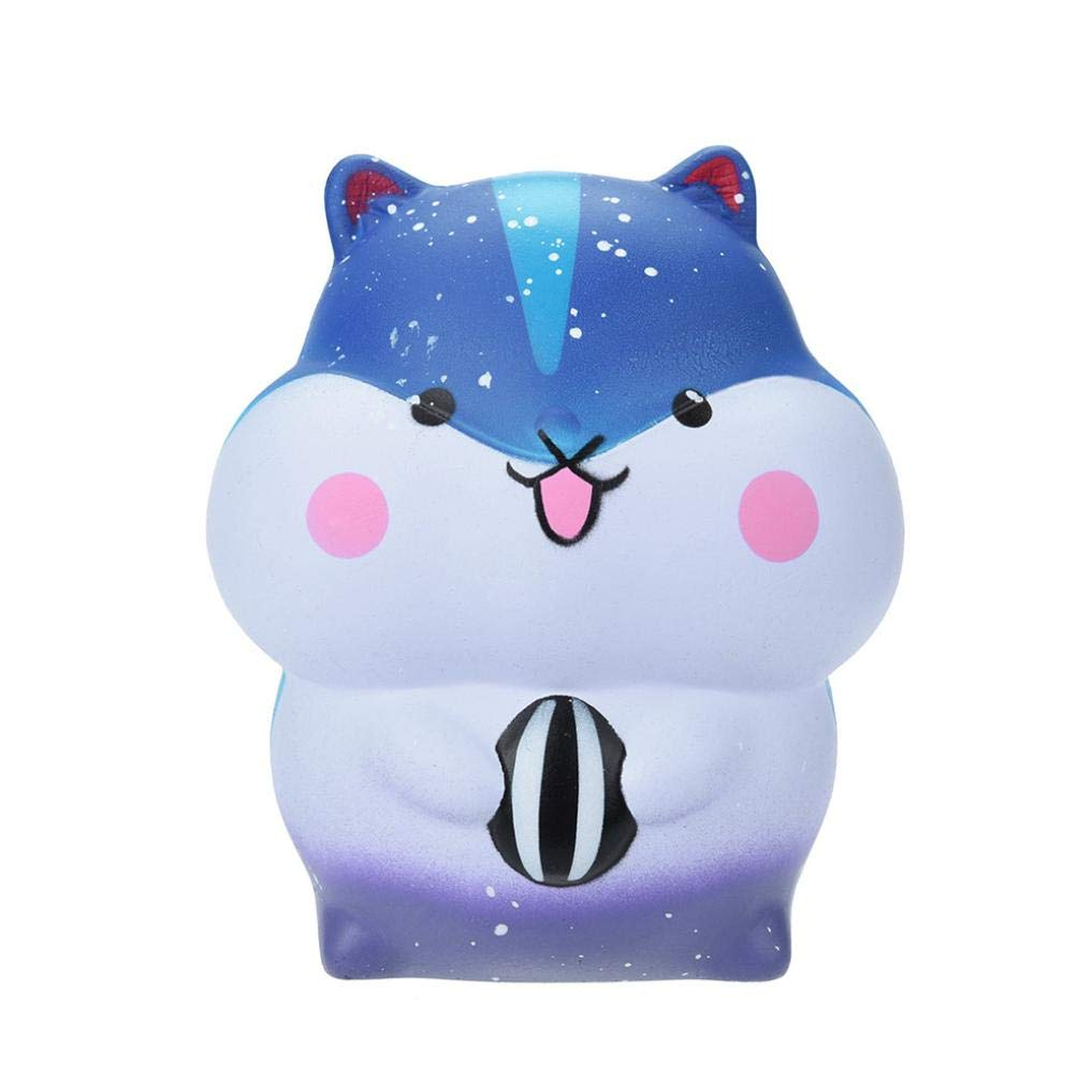 callm Squishies Cake Style Slow Rising Jumbo Squishy Toys Kawaii Cute Scented Squishies Kids Party Squishy Stress Reliever Toy (Hamster)