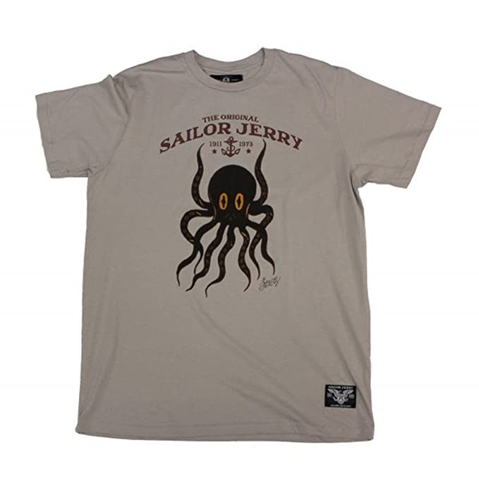 0317c89d Image Unavailable. Image not available for. Color: Sailor Jerry The Octopus  Tee