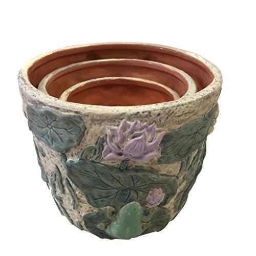 PMJC Ceramic Planter Set (Set of 3), 6.5