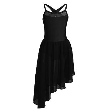 5c8da97f7502 iiniim Kids Girls Lyrical Dress High-Low Skirt Contemporary Ballet Modern  Jazz Dance Leotards Ballroom
