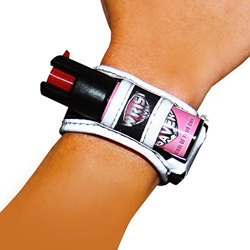 Pepper Spray for Runners - Joggers - Walking - Hiking - Wristband - LED Light - Id Card - Reflective Material - Women Safety Bracelet - Personal Self Defense Running Protection - Wrist Saver Small