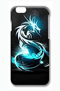 Brian114 6 Case, iPhone 6 Case - 3D Fashion Print Drop Protection Case for iPhone 6 Blue Dragon In Dark Light Scratch Resistant Case for iPhone 6 4.7 Inches