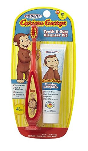 Price comparison product image IODENT Curious George Toothbrush & Toothpaste 1.0 ea (pack of 1)