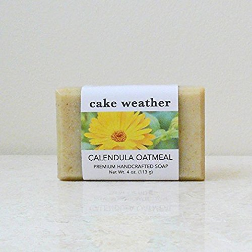 CALENDULA OATMEAL - Gentle Calming Eczema-Friendly Natural Handcrafted Soap, Made in USA (1 Bar)