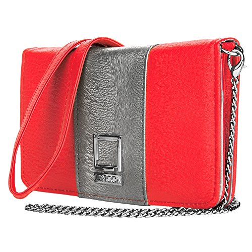 Women's Wallet Clutch Pink / Silver for Xiaomi by BestPriceCenter