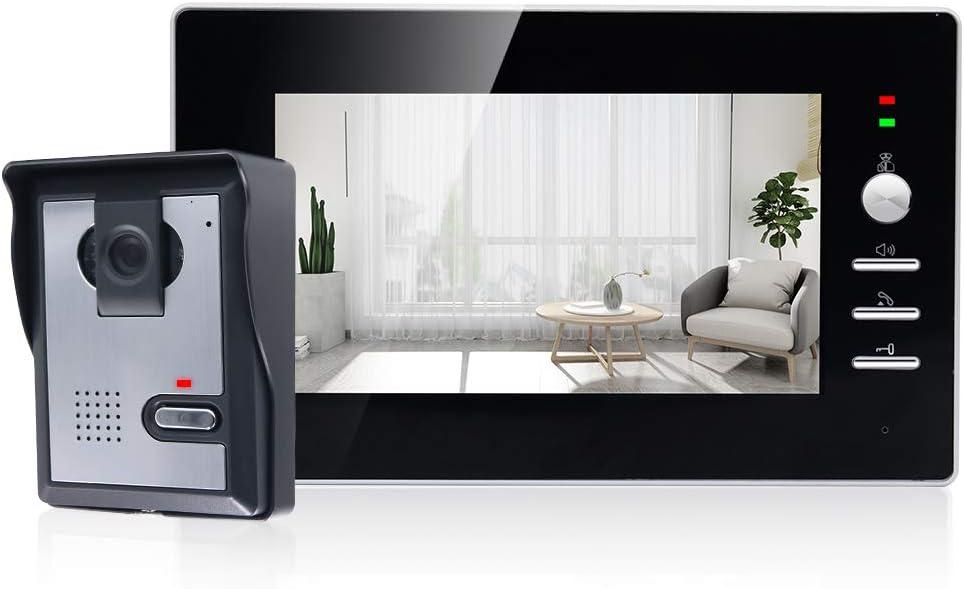 "Wired Video Doorbell 7"" Video Intercom System Doorbell Kit HD Camera Kits Support Unlock, Monitoring, Dual-Way Intercom for Home Office"