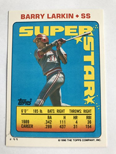 1990 Topps Sticker Backs #11 Barry Larkin NM/M (Near Mint/Mint) ()