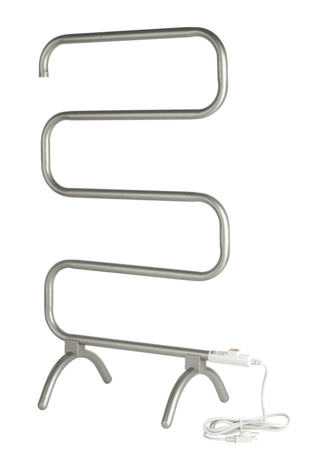 Warmrails 37.5-Inch Mid Size Towel Warmer with Wall Mounted/Floor Standing Option, Nickel Finish