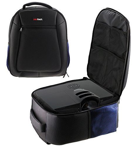 Navitech Rugged Black Backpack / Rucksack / Carry Case For TheOptoma W305ST 44.6 - 223.2-Inch Data Projector