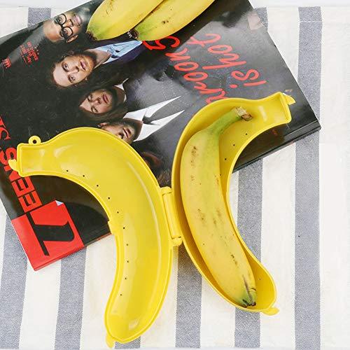 TOLTOL Banana Case,5 Pack Banana Holder Outdoor Travel Cute Banana Protector Storage Box