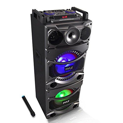 (Pyle PSUFM1038BT Bluetooth PA Loudspeaker Karaoke Entertainment System, Wireless Mic)