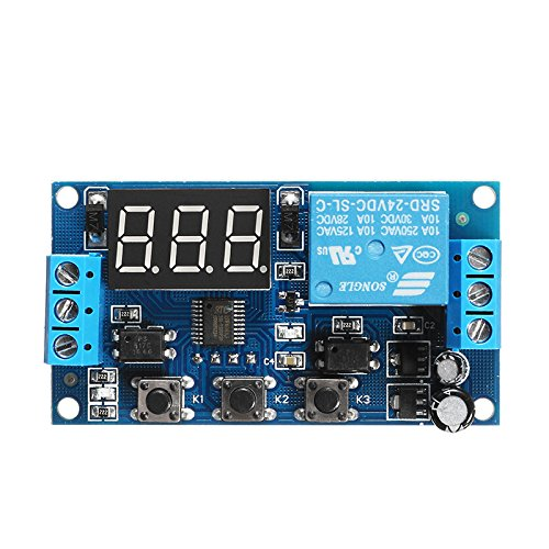 24V Adjustable Pulse Trigger Delay Cycle Timer Delay Switch Relay Control Module - Arduino Compatible SCM & DIY Kits by Davitu Module Board (Image #3)