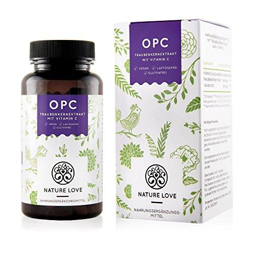 OPC Traubenkernextrakt Kapseln - 130 Stück. Hochdosiertes OPC mit ca. 200mg OPC je Tagesdosis. Natürliches Antioxidans, vegan und hergestellt in Deutschland